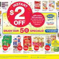 Cheers & FairPrice Xpress Get $2 Off With Every $20 Purchase @ Esso Service Stations 4 - 17 Aug 2015