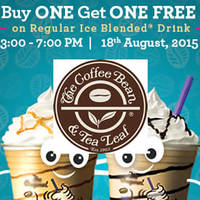 Read more about Coffee Bean & Tea Leaf 1-for-1 Beverages (3pm to 7pm) 18 Aug 2015