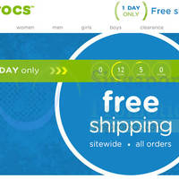 Crocs Free Shipping 1-Day Promo 31 Aug 2015