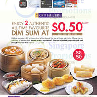 Crystal Jade 50 Cents Dim Sum With Every $50 Spend For DBS/POSB Cardmembers 5 Aug - 30 Sep 2015