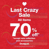Read more about Desigual 70% OFF Storewide @ IMM 26 - 30 Aug 2015