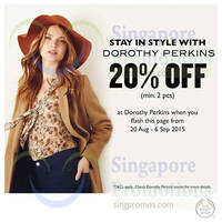 Read more about Dorothy Perkins 20% Off Coupon 22 Aug - 6 Sep 2015