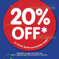 Read more about Early Learning Centre 20% Off Sports & Activity Range 18 - 23 Aug 2015