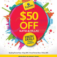 Read more about Expedia $50 Off Suites & Villas SG50 Travel Deal 26 Aug - 8 Sep 2015