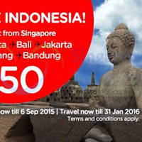 Air Asia fr $50 (all-in) Promo Fares 31 Aug - 6 Sep 2015
