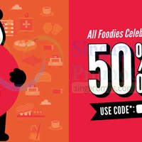 Read more about FoodPanda 50% OFF NO Min Spend Coupon Code (New/Existing Customers) 26 Aug 2015