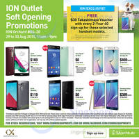 Starhub ION Orchard Re-Opening Specials 29 - 30 Aug 2015