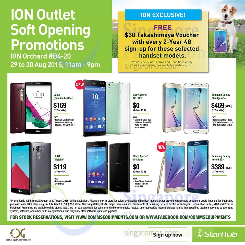 Free Takashimaya Voucher, LG G4, Sony Xperia C5 Ultra, Samsung Galaxy S6 Edge, Note 5, Sony Xperia M4 Aqua