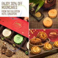 Fullerton Hotel 30% Off Mooncakes 72hr Promo 28 - 30 Aug 2015