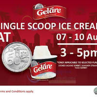 Read more about Gelare 50 Cents Ice Cream Scoop (3pm to 5pm) @ Suntec City Mall 7 - 10 Aug 2015
