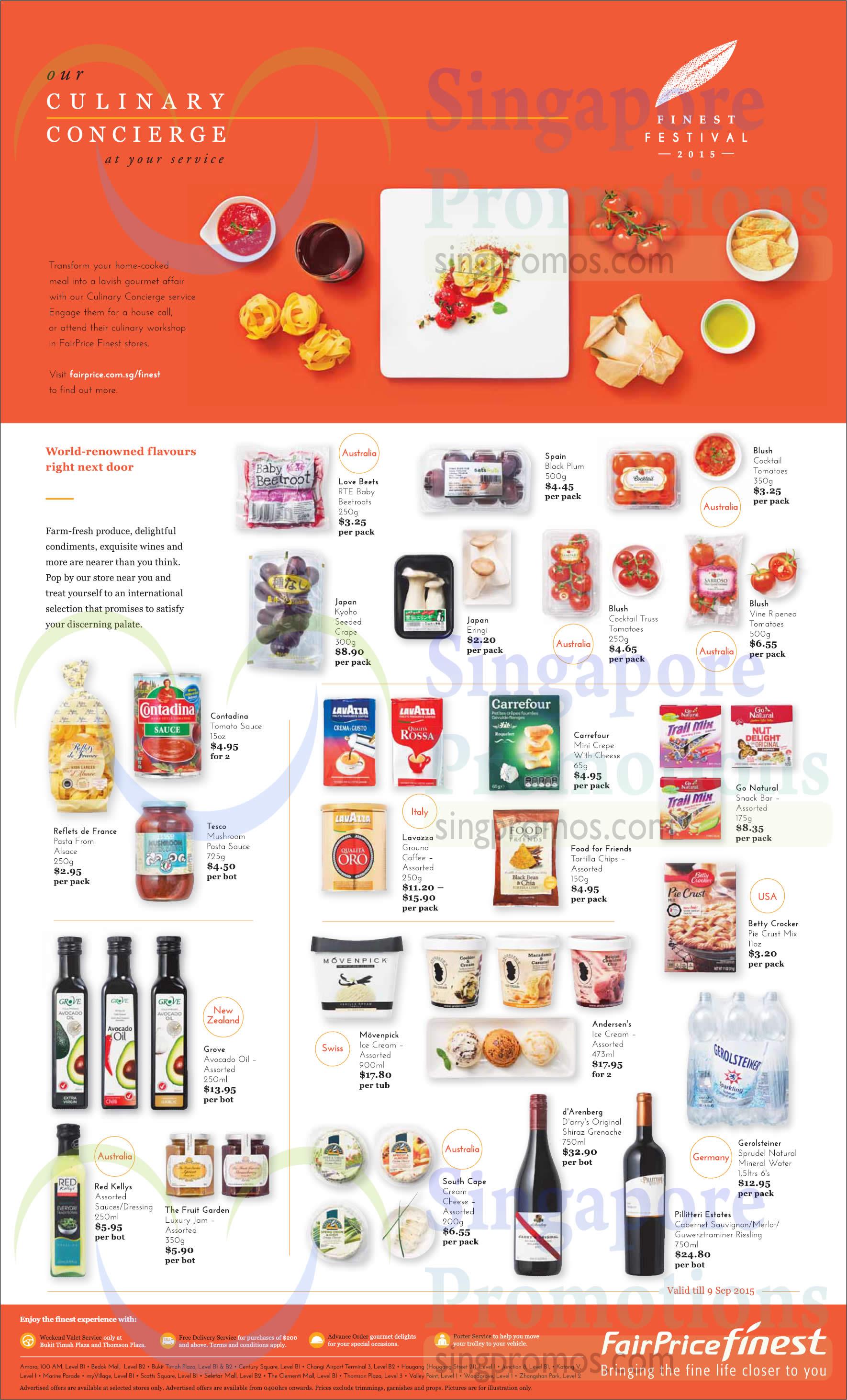 Groceries, wines, Ice Creams, Vegetables, Oils