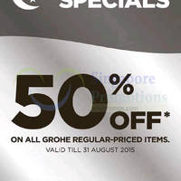 Read more about Grohe 50% Off Storewide Promotion 1 - 31 Aug 2015