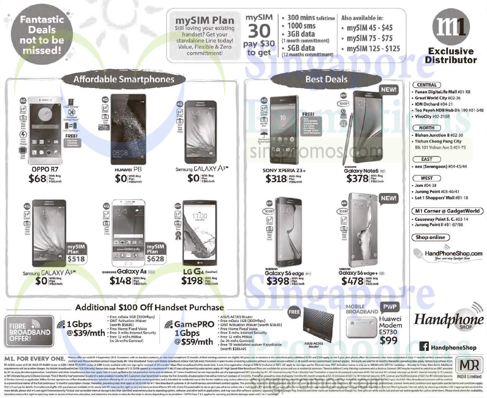 Handphone Shop Oppo R7 Huawei P8 LG G4 Samsung Galaxy