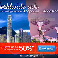 Read more about Hotels.com Up To 50% Off 48hr Worldwide Sale 19 - 20 Aug 2015