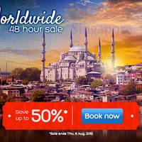 Hotels.com Up To 50% Off 48hr Worldwide Sale 5 - 6 Aug 2015
