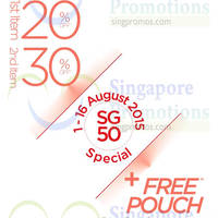Hush Puppies Footwear & Accessories 20% to 30% Off SG50 Special 1 - 16 Aug 2015