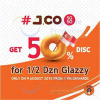 Read more about J.CO Donuts & Coffee 50% Off Glazzy Donuts SG50 1-Day Promo @ Suntec City Mall 9 Aug 2015
