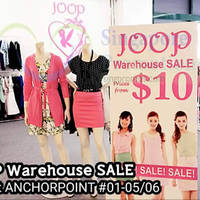 Joop Fashion House Warehouse Sale @ Anchorpoint 30 Aug - 30 Sep 2015
