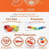 Read more about Le Creuset 90th Anniversary Sale @ Takashimaya 2 - 15 Sep 2015