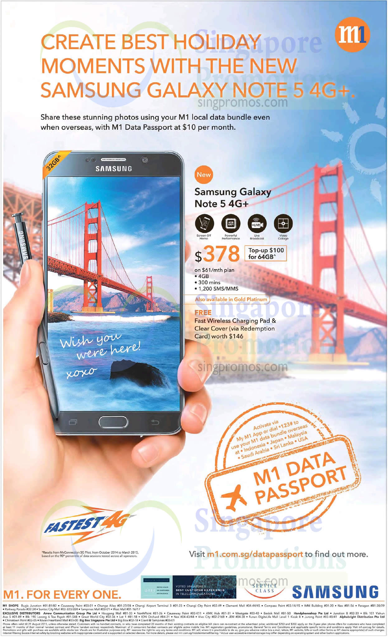 M1 Samsung Galaxy Note 5 4G Plus