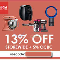 Mega Discount Store 13% OFF (NO Min Spend) 1-Day Coupon Code 8 Oct 2015