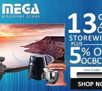 Read more about Mega Discount Store 13% OFF (NO Min Spend) 1-Day Coupon Code 6 Aug 2015