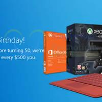 Microsoft Store Spend $500 & Get $50 Off SG50 Promo 4 - 11 Aug 2015