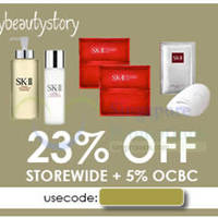 Read more about My Beauty Story 23% OFF SK-II, Clarins & More (NO Min Spend) 1-Day Coupon Code 27 Aug 2015