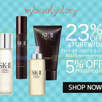 Read more about My Beauty Story 28% OFF SK-II, Clarins & More (NO Min Spend) 1-Day Coupon Code 4 Aug 2015