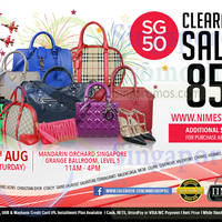Nimeshop Branded Handbags Sale @ Mandarin Orchard 8 Aug 2015