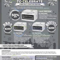 Read more about Panasonic Laser Printers Offers 16 Aug - 13 Sep 2015