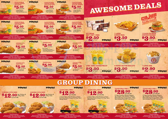 Popeyes Dinein Discount 21 Aug 2015