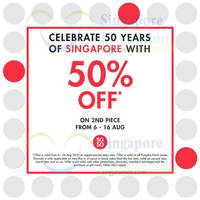 Read more about Pumpkin Patch 50% Off 2nd Piece SG50 Promo 8 - 16 Aug 2015