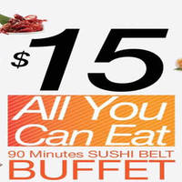 Sakae Sushi $15 All-You-Can-Eat Buffet (Weekdays 3pm to 6pm) @ 4 Outlets 31 Aug 2015