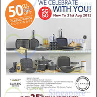 Read more about Scanpan 50% Off All Classic Range Cookware 6 - 31 Aug 2015