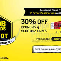 Read more about Scoot 30% Off Fares For UOB Cardmembers 23 - 24 Sep 2015