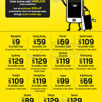 Scoot 30% Off Promo Fares 28 - 30 Aug 2015