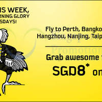 Scoot fr $8 2hr Promo Air Fares (7am to 9am) 1 Sep 2015