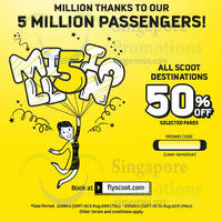 Read more about Scoot 50% Off Fares Promo Code 6 - 10 Aug 2015