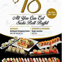 Read more about Senjyu $18 All-You-Can-Eat Sushi Buffet @ Northpoint & Bugis Junction 24 Aug 2015