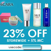 Read more about Shicara 28% OFF SK-II Facial Treatment Essence & More (NO Min Spend) 1-Day Coupon Code 25 Aug 2015