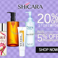 Shicara 25% OFF SK-II Facial Treatment Essence & More (NO Min Spend) 1-Day Coupon Code 1 Sep 2015