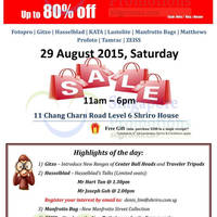 Read more about Shriro Imaging Warehouse Sale 29 Aug 2015
