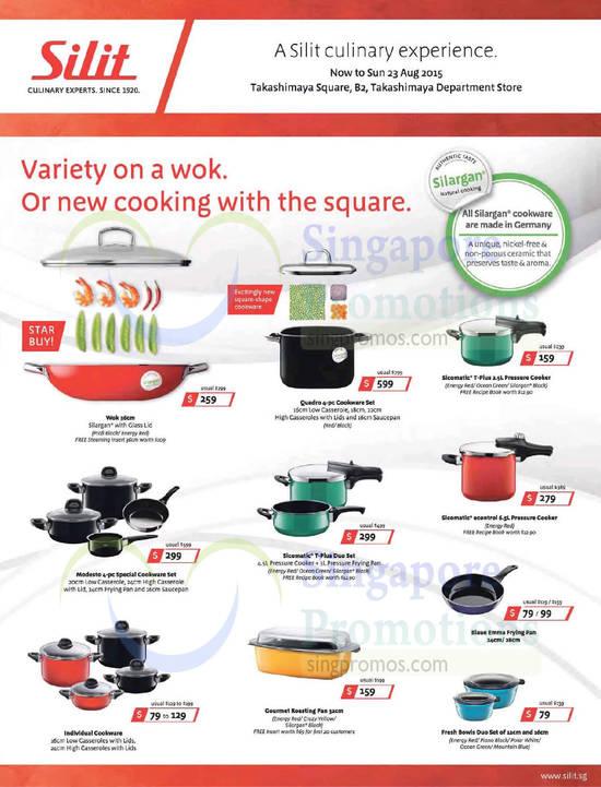 silit cookware offers takashimaya 16 23 aug 2015. Black Bedroom Furniture Sets. Home Design Ideas