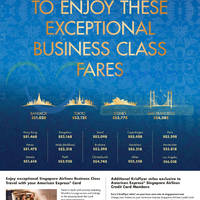 Read more about Singapore Airlines Business Class Promo Fares For AMEX Cardmembers 18 Aug - 14 Sep 2015
