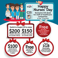 Singtel Corporate Individual Scheme (CIS) Nurses' Day Promotion 1 - 6 Aug 2015