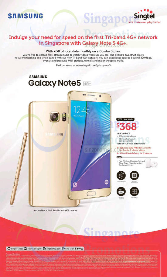 Singtel Samsung Galaxy Note 5