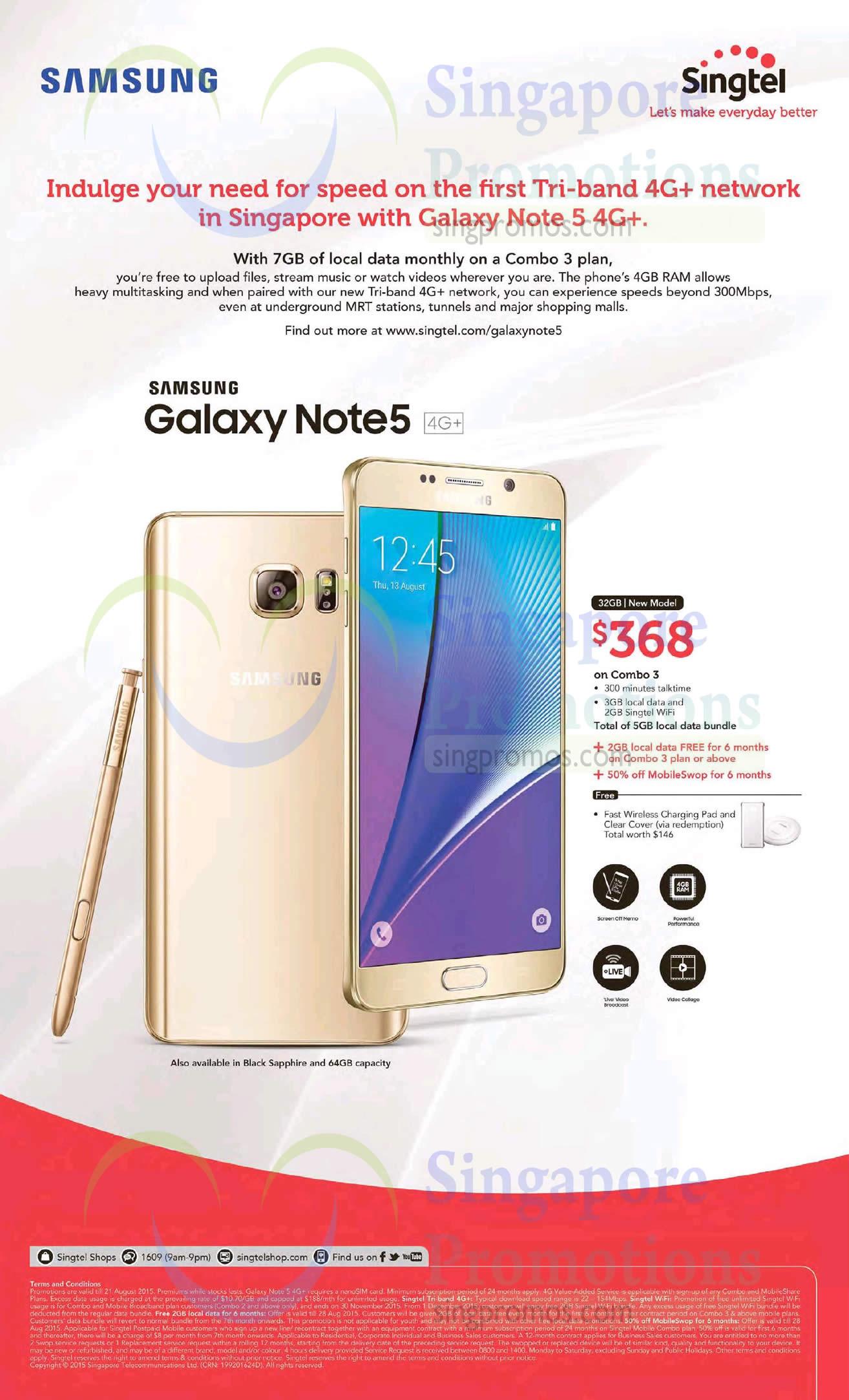 Singtel Samsung Galaxy Note 5