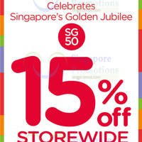 Read more about Stride Rite Storewide 15% OFF All Shoes SG50 Promo 12 - 31 Aug 2015