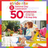 Read more about Stride Rite Storewide $50 Shoes SG50 Promo 8 - 10 Aug 2015